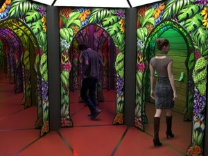 Mirror maze entrance